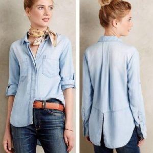 Cloth & Stone Chambray Shirt Tail Button-down